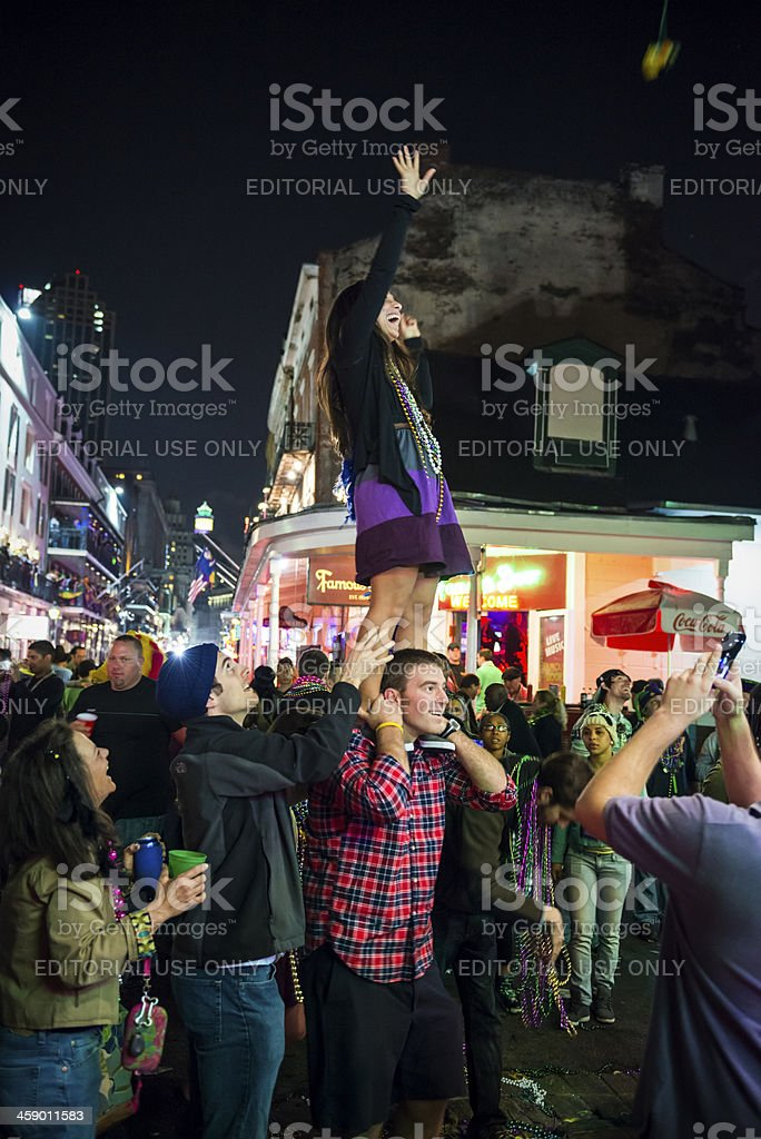 Fun at Mardi Gras 2013 royalty-free stock photo