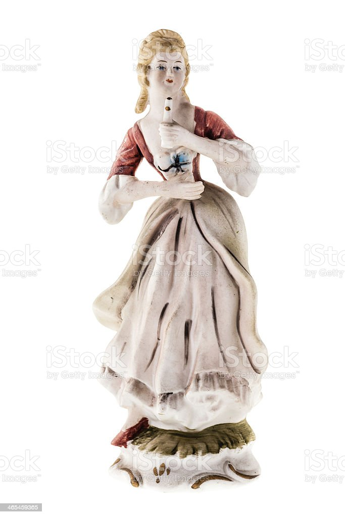 Woman statuette stock photo