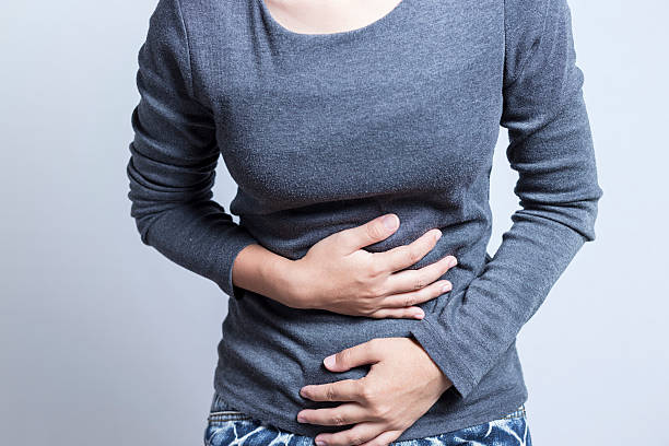 Woman Stomach Ache stock photo