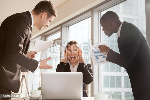 istock Woman stressed because of mistake in work papers 843534148