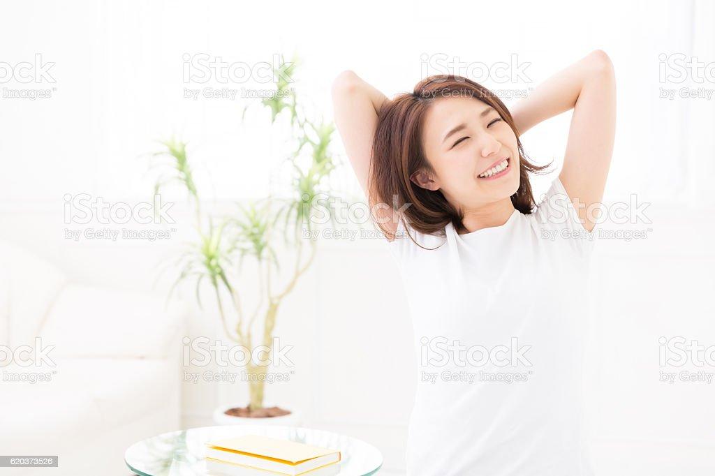 Kobieta rozciąganie  zbiór zdjęć royalty-free