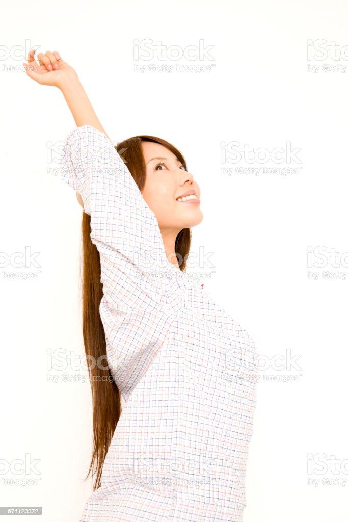 伸展的女人 免版稅 stock photo