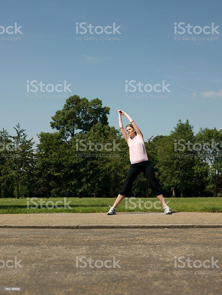 A woman stretching 免版稅 stock photo