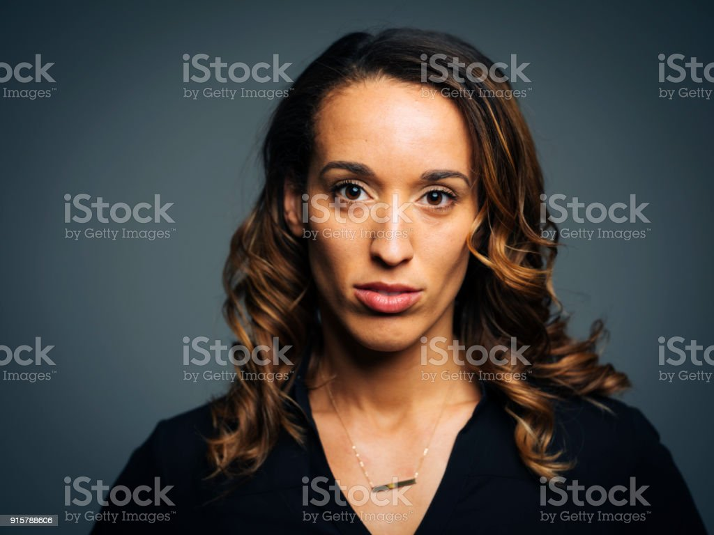 Woman Studio Portrait stock photo
