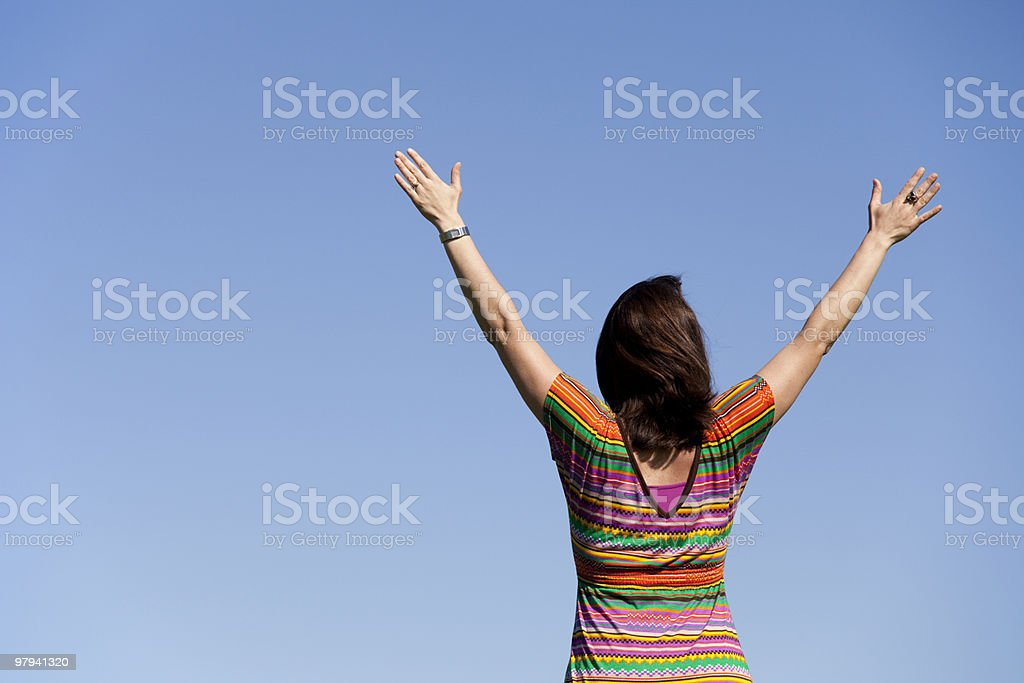 Woman success royalty-free stock photo