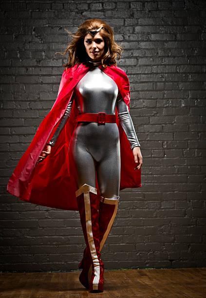 Woman superhero stock photo