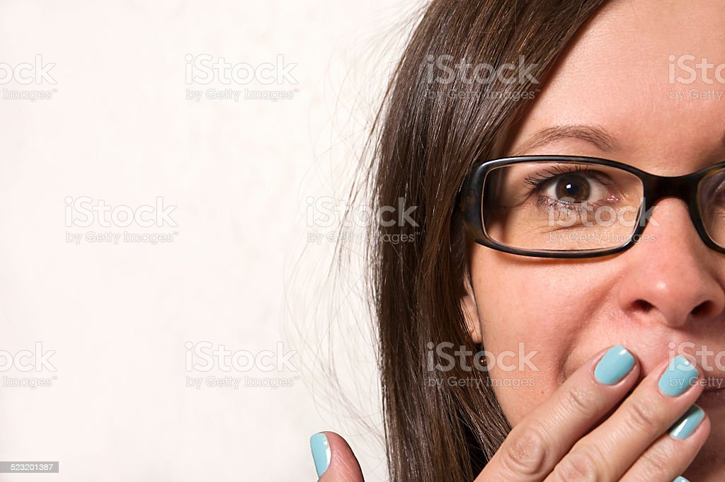 Woman Surprised stock photo