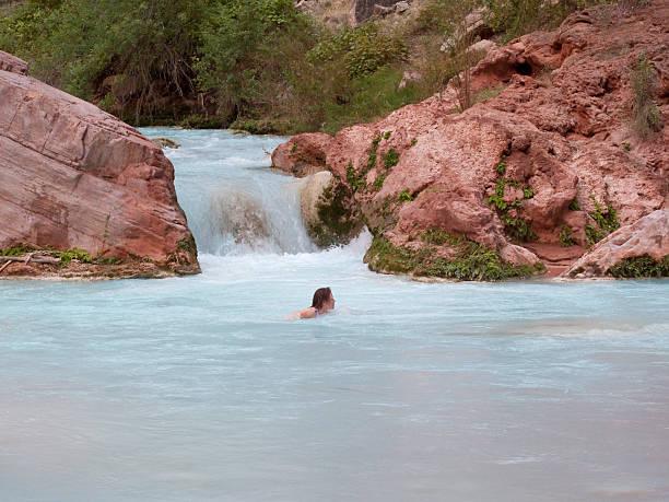 Woman Swimming stock photo