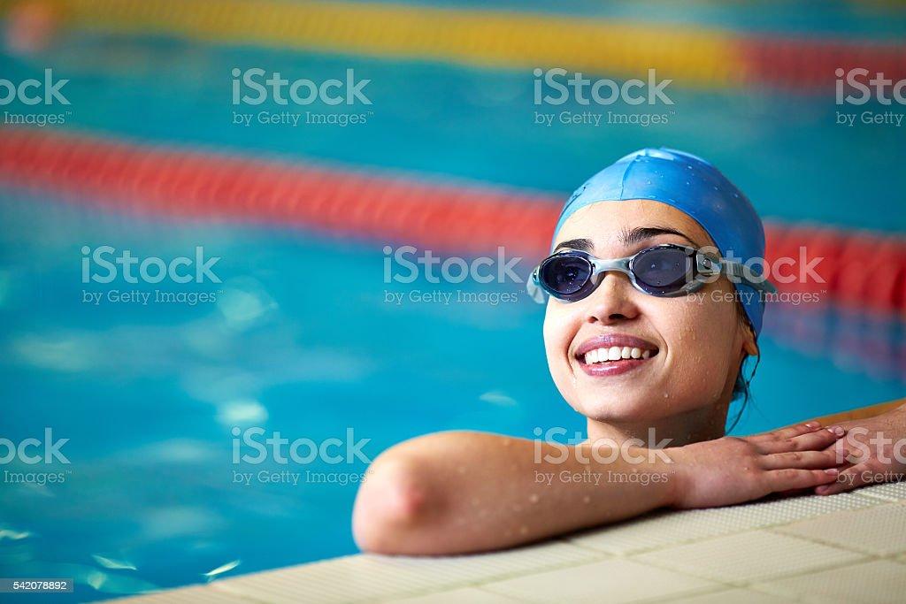 Woman swimming stok fotoğrafı