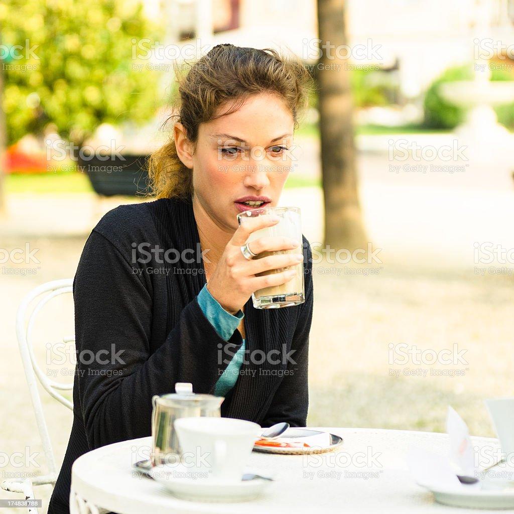 Woman take a break outdoors