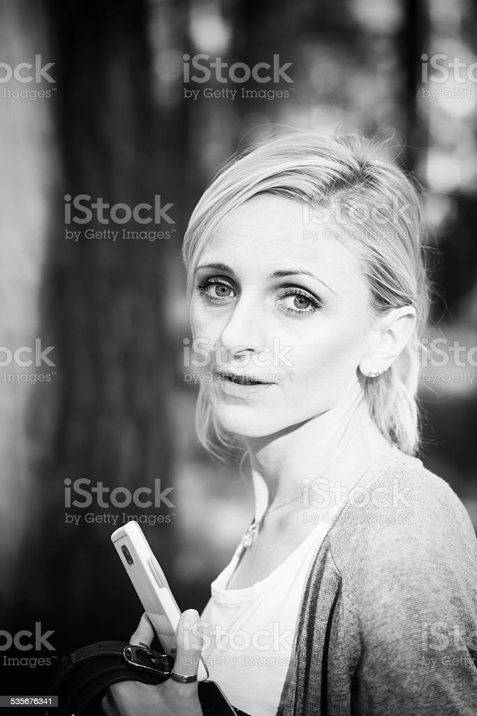 woman taking pictures royalty-free stock photo