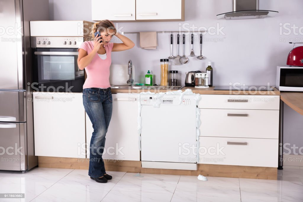Woman Talking On Mobilephone stock photo