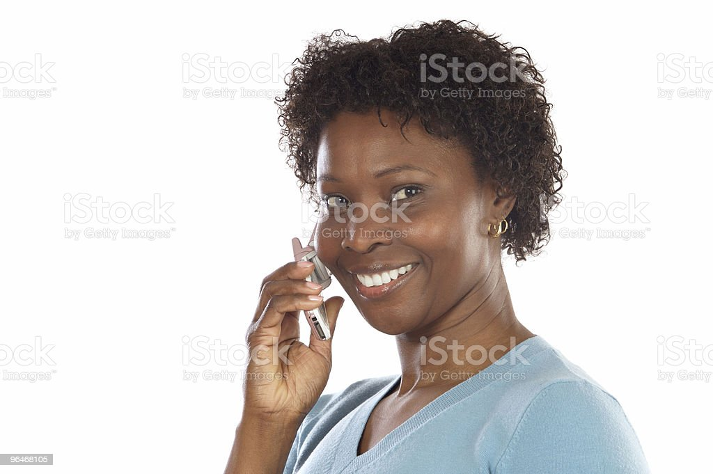 woman talking on the telephone royalty-free stock photo
