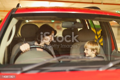 istock Woman talking to son while driving 140872821
