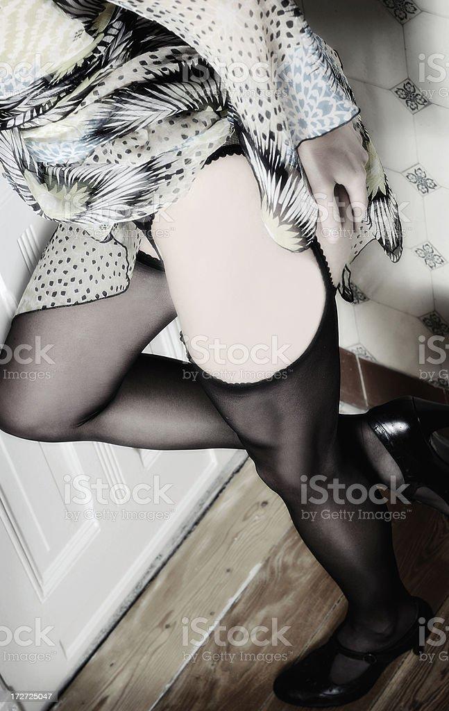 woman teasing royalty-free stock photo