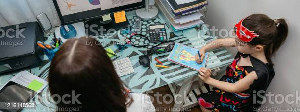 Woman teleworking with her daughter drawing picture id1216148568?b=1&k=6&m=1216148568&s=612x612&h=i9yoan8 qvqpyigqmq1zql2vvlz3rhj vojkz7sbfhw=