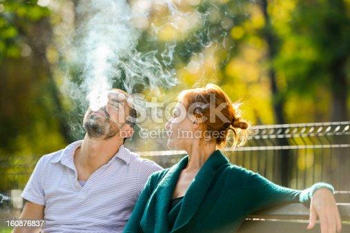 Woman telling her boyfriend to finally stop smoking
