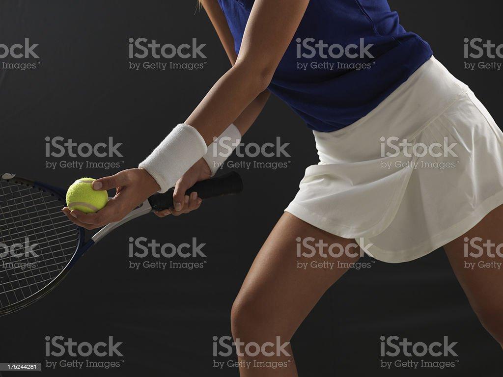 Woman Tennis Player stock photo