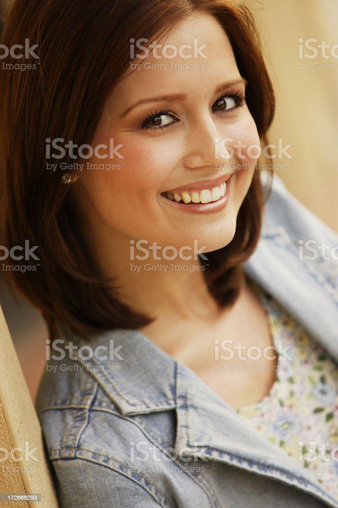 Woman Testimonial royalty-free stock photo