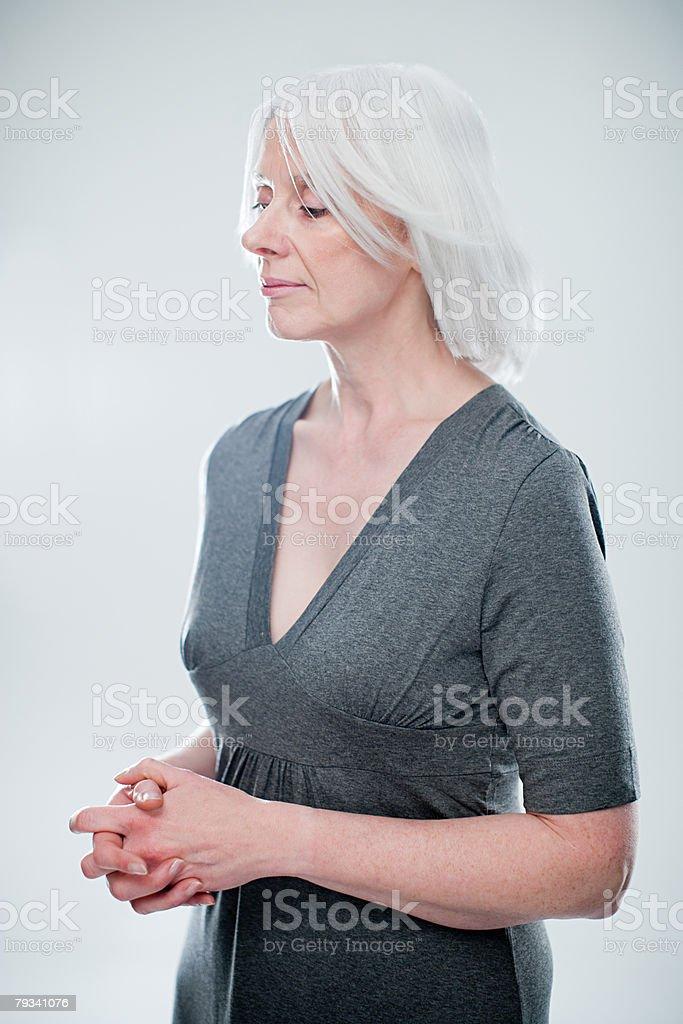 Woman thinking royalty-free stock photo