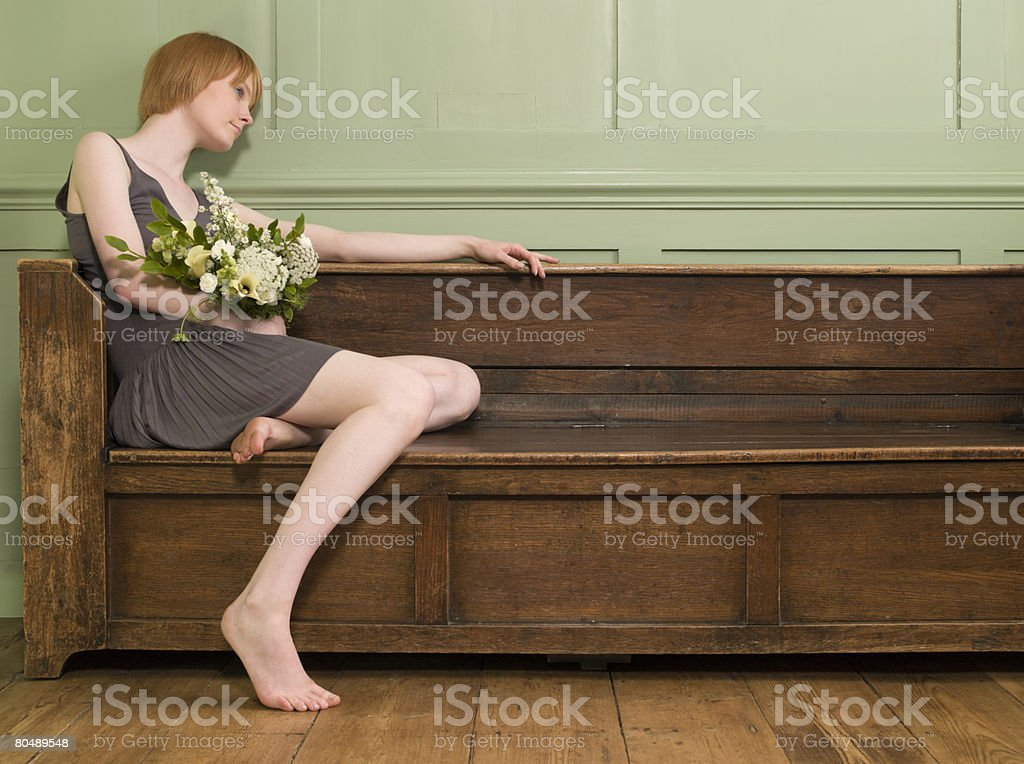 A woman thinking royalty-free stock photo