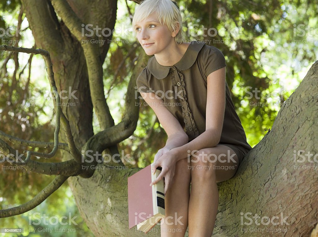 A woman thinking 免版稅 stock photo