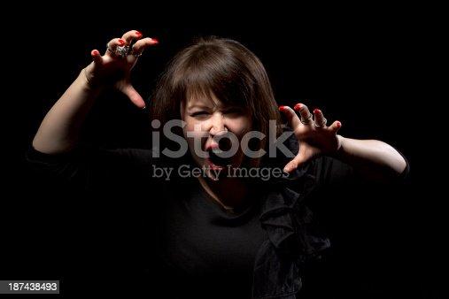 1138361116 istock photo Woman throwing a temper tantrum 187438493