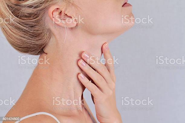 Woman Thyroid Gland Control Stock Photo - Download Image Now