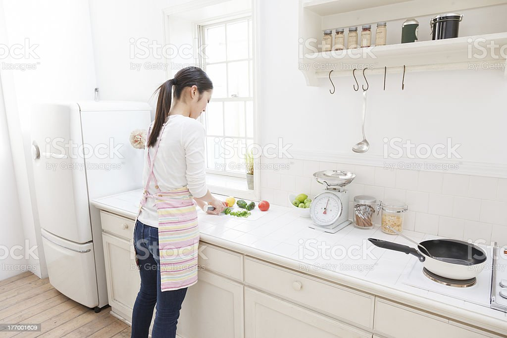 Woman to cook stock photo