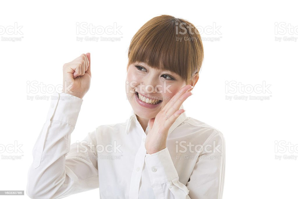 Woman to support royalty-free stock photo