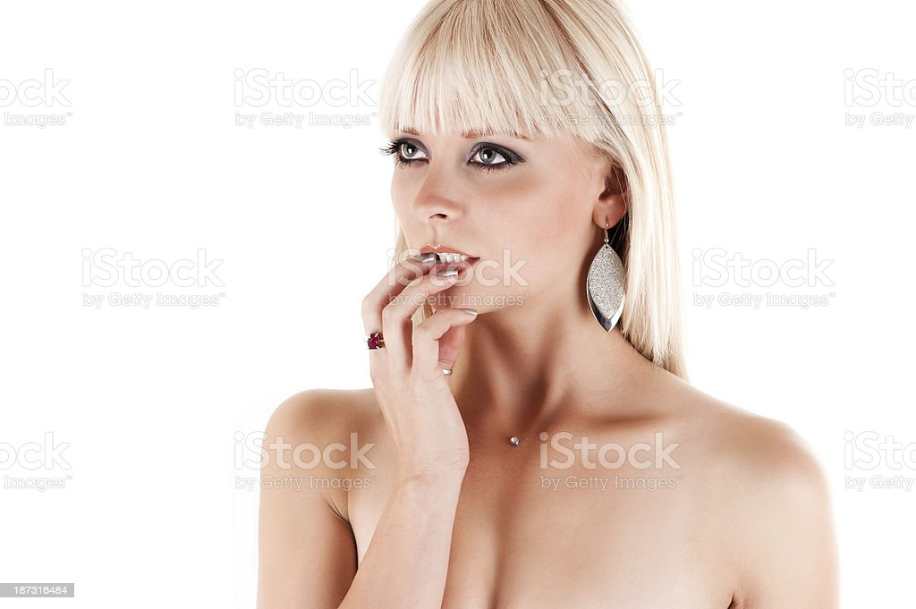 woman to take care of your skin stock photo