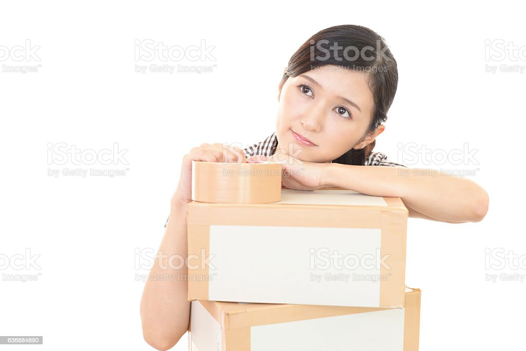 Woman to the moving - foto de stock