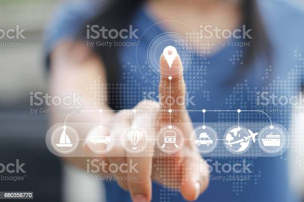 Woman touching icon travel online network connection on screen picture id680356770?b=1&k=6&m=680356770&s=612x612&h=hg80gb2y0usmjdpivnrywdgt3ylzj3sn ckg9vdfwuu=