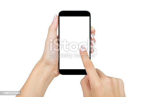 Woman touching on mobile phone