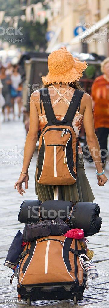 Woman Tourist. Color Image stock photo