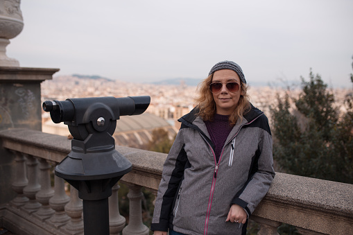Woman tourist in Barcelona