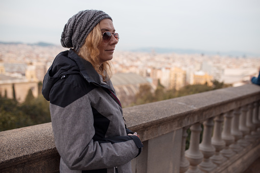 Woman tourist sightseeing in Barcelona