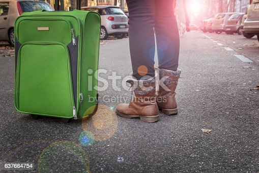 istock woman tourist traveling is on the streets of European cities 637664754