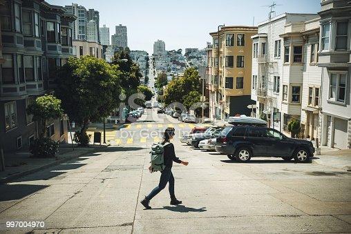 Driving a car POV: in San Francisco