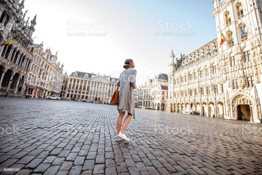 Femme voyage Bruxelles - Photo