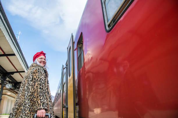 woman traveling by train - showus стоковые фото и изображения