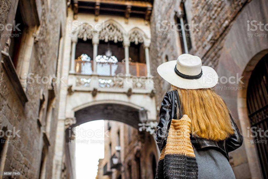 Frau in Barcelona Reisen – Foto