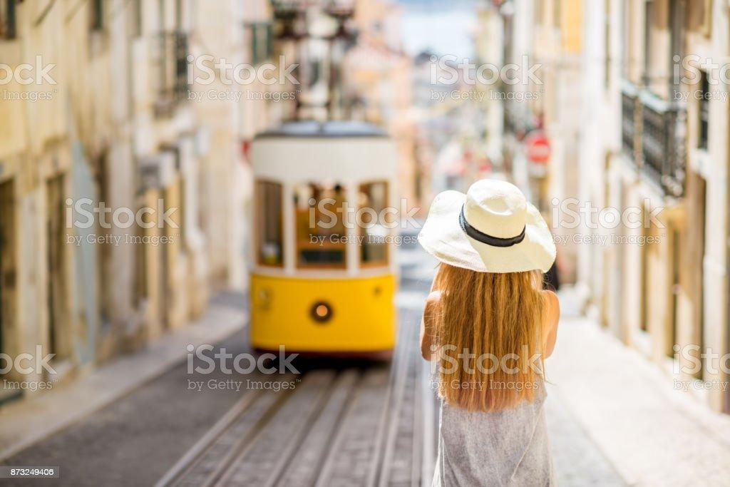 Frau in Lissabon, Portugal reisen – Foto