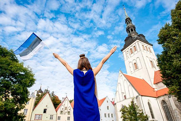 Woman traveling in Tallinn - Photo