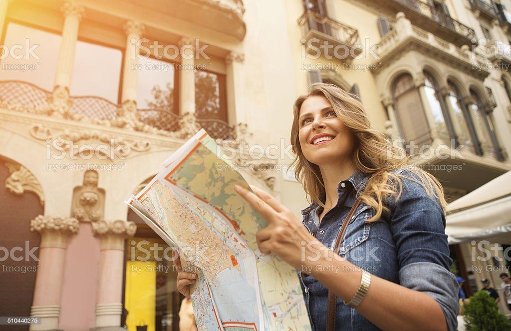 Woman traveling. stock photo