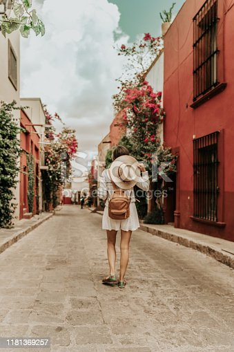 Woman travelling in San Miguel allende, Mexico