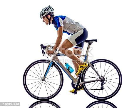 istock woman triathlon ironman athlete cyclist cycling 518980443