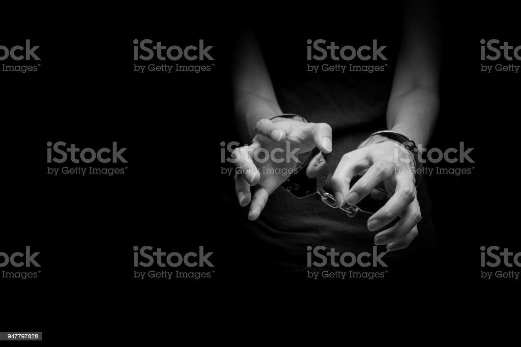Woman under Arrest stock photo