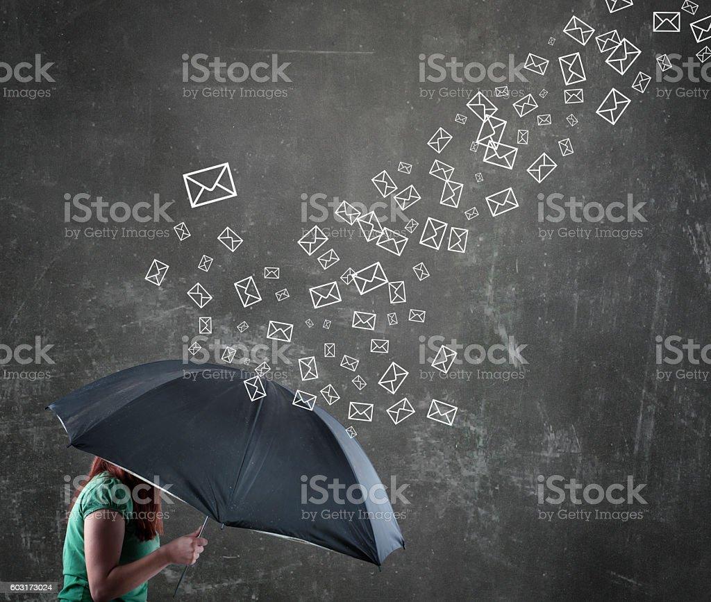 woman under the umbrella - Foto de stock de Adulto libre de derechos