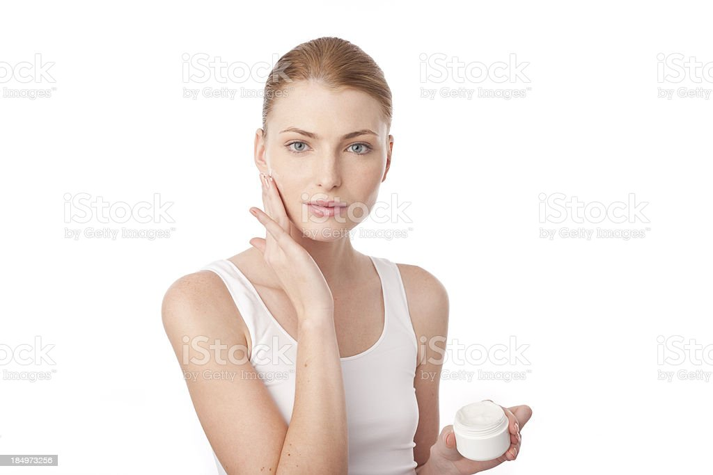 woman using cosmetics royalty-free stock photo